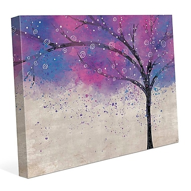 Click Wall Art 'Sparkle Tree Purple' Graphic Art on Wrapped Canvas; 20'' H x 24'' W x 1.5'' D