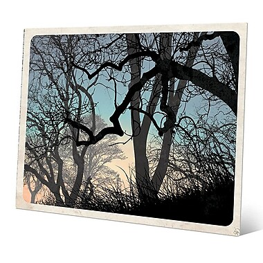 Click Wall Art 'Lost Wood's Horizon' Graphic Art on Metal; 11'' H x 14'' W x 0.04'' D