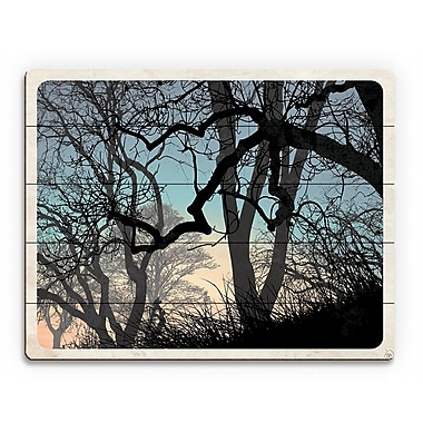 Click Wall Art 'Lost Wood's Horizon' Graphic Art on Wood; 20'' H x 24'' W x 1'' D