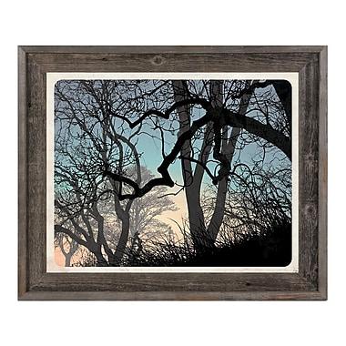 Click Wall Art 'Lost Wood's Horizon' Framed Graphic Art ; 19.5'' H x 23.5'' W x 1'' D