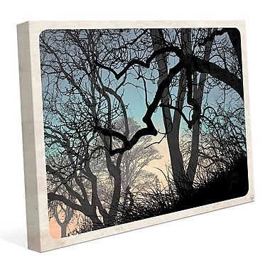 Click Wall Art 'Lost Wood's Horizon' Graphic Art on Wrapped Canvas; 20'' H x 30'' W x 1.5'' D