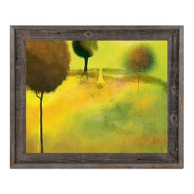 Click Wall Art 'Surreal Chartreuse Garden' Framed Painting Print; 23.5'' H x 27.5'' W x 1'' D