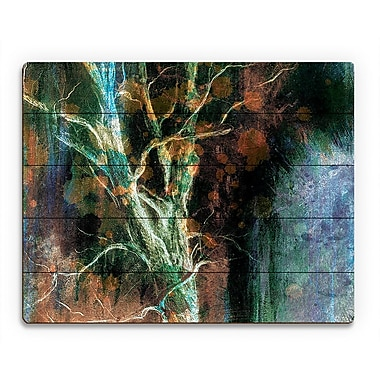 Click Wall Art 'Intense Wither on Azure' Graphic Art on Wood; 20'' H x 24'' W x 1'' D