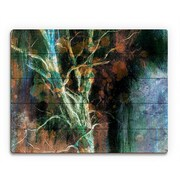 Click Wall Art 'Intense Wither on Azure' Graphic Art on Wood; 11'' H x 14'' W x 1'' D