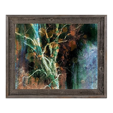 Click Wall Art 'Intense Wither on Azure' Framed Graphic Art ; 14.5'' H x 17.5'' W x 1'' D