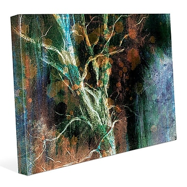 Click Wall Art 'Intense Wither on Azure' Graphic Art on Canvas; 8'' H x 10'' W x 0.75'' D