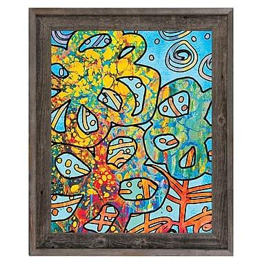 Click Wall Art 'Full of Life Alpha' Framed Painting Print; 17.5'' H x 14.5'' W x 1'' D