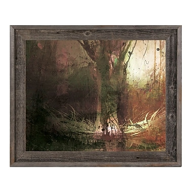 Click Wall Art 'Foreboding Umber Fir' Framed Graphic Art ; 23.5'' H x 33.5'' W x 1'' D