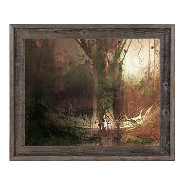 Click Wall Art 'Foreboding Umber Fir' Framed Graphic Art ; 14.5'' H x 17.5'' W x 1'' D