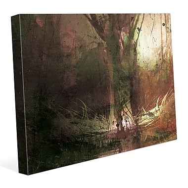 Click Wall Art 'Foreboding Umber Fir' Graphic Art on Wrapped Canvas; 24'' H x 36'' W x 1.5'' D