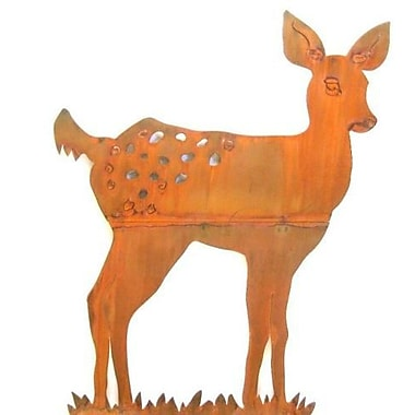 ZGardenParty Fawn Standing Garden Statue (Set of 2)