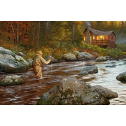 ReflectiveArt 'Catching A Moment' Print of Painting on Wrapped Canvas