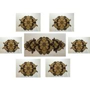 GARIAN Exquisite Glass Beads Tabletop Decor 7 Piece Dining Linen Set