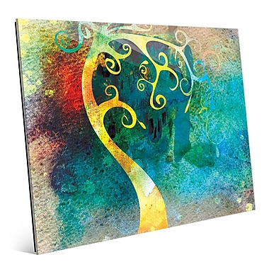 Click Wall Art 'Citrine Curved Trunk' Graphic Art; 11'' H x 14'' W x 1'' D