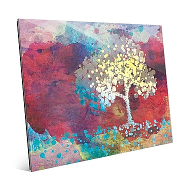Click Wall Art 'Spotty Cerulean Birch' Graphic Art; 16'' H x 20'' W x 1'' D