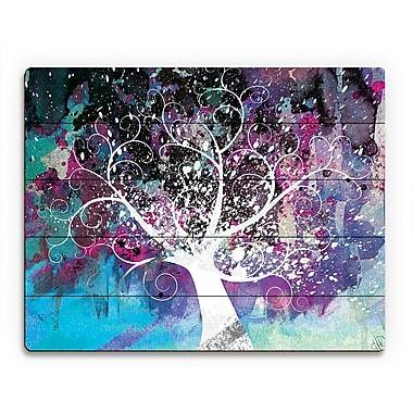 Click Wall Art 'Mottled Fandango Willow' Graphic Art on Wood; 16'' H x 20'' W x 1'' D
