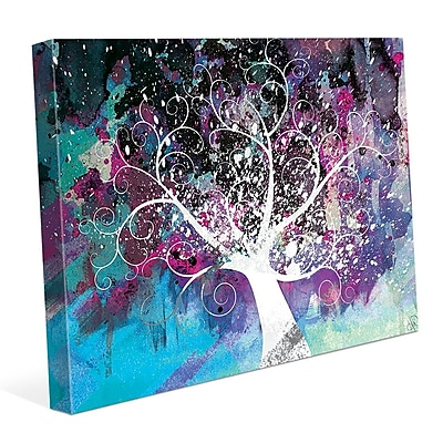 Click Wall Art 'Mottled Fandango Willow' Graphic Art on Wrapped Canvas; 11'' H x 14'' W x 1.5'' D