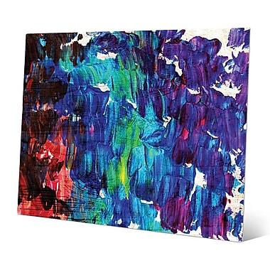 Click Wall Art 'Suzu' Painting Print on Metal; 8'' H x 10'' W x 0.04'' D