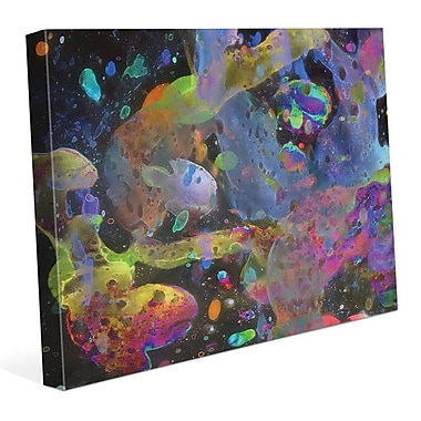 Click Wall Art 'Galassie' Painting Print on Wrapped Canvas; 16'' H x 20'' W x 1.5'' D
