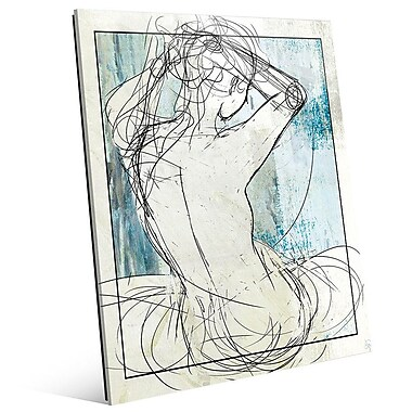 Click Wall Art 'Woman on Sky' Graphic Art; 14'' H x 11'' W x 1'' D