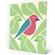 Click Wall Art 'Birds Birds Birds Green' Graphic Art on Metal; 20'' H x 16'' W x 0.04'' D