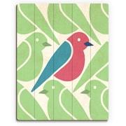 Click Wall Art 'Birds Birds Birds Green' Graphic Art on Wood; 12'' H x 9'' W x 1'' D