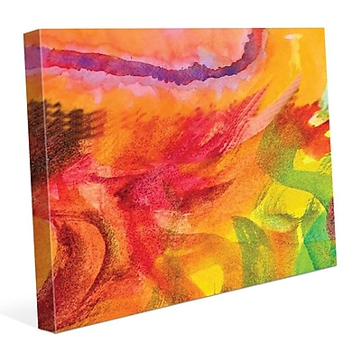 Click Wall Art 'Lumaca' Painting Print on Wrapped Canvas; 20'' H x 30'' W x 1.5'' D