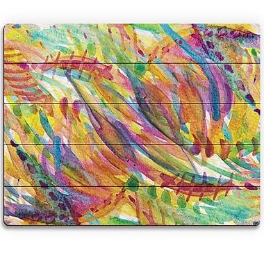 Click Wall Art 'Riflesso' Painting Print on Wood; 20'' H x 24'' W x 1'' D