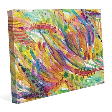 Click Wall Art 'Riflesso' Painting Print on Wrapped Canvas; 24'' H x 36'' W x 1.5'' D