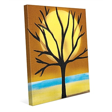 Click Wall Art 'Tree and the Sun' Graphic Art on Wrapped Canvas; 20'' H x 16'' W x 1.5'' D