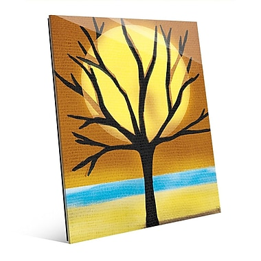 Click Wall Art 'Tree and the Sun' Graphic Art on Glass; 10'' H x 8'' W x 1'' D