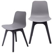 eModern Decor Hebe Series Dining Shell Side Chair (Set of 2); Gray