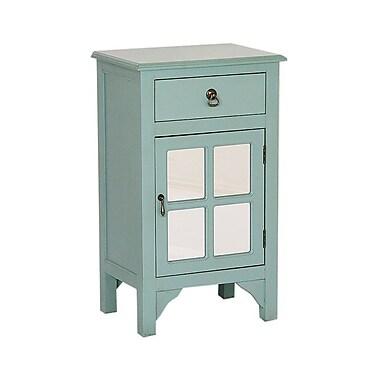 Heather Ann 1 Door Accent Cabinet; Blue