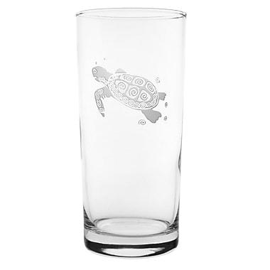 Rolf Glass Sea Turtle 15 oz. Highball Glass (Set of 4)