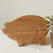 Creative Co-Op Wood Pig Shaped Pedestal