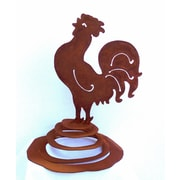 ZGardenParty Rooster Spring Statue
