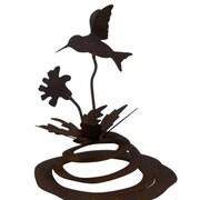 ZGardenParty Hummingbird Spring Statue