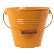 Houston International Enameled Galvanized Fun Bucket; Saffron