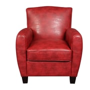 Porter International Designs Henry Arm Chair; Red