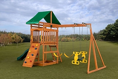 CreativeCedarDesigns Sky View Swing Set