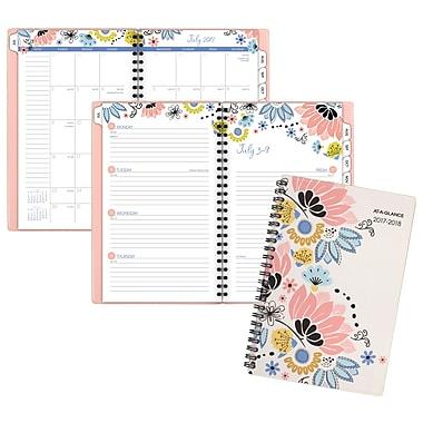 Mead® – Agenda hebdomadaire/mensuel de la collection Claire, 5 1/2 po x 8 1/2 po, anglais
