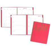 AAG – Agenda hebdomadaire/mensuel Hello de la collection Aspire, grand, 8 1/2 po x 11 po, anglais