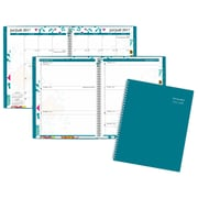"At-A-Glance® 2017/2018 Evelina Weekly/Monthly Academic Planner, 8-1/2"" x 11"", Teal, Bilingual"