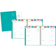 "Mead® 2017/2018 Geometric Weekly/Monthly Large Academic Planner, 8-1/2"" x 11"", Assorted, Bilingual"