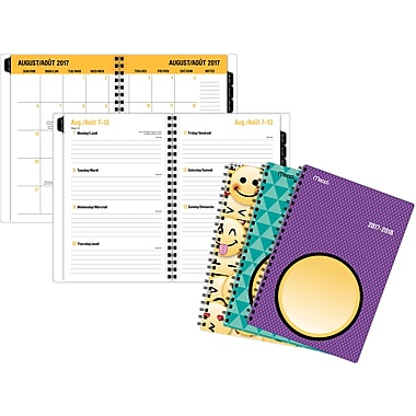 Mead Emoji w/ Front Pocket Weekly/Monthly Planner, 5-1/2