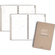 "At-A-Glance® 2017/2018 Yo Pro Wirebound Weekly/Monthly Academic Planner, 5-3/8""W x 8-1/2""H, Beige, English"