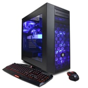CyberPowerPC-PC de jeu SLC9860 Gamer Xtreme Liquid Cool, 4,2 GHz Core i7-7700K, DD 2 To + 128 Go SSD, 16 Go, AMD RX 480, Win10
