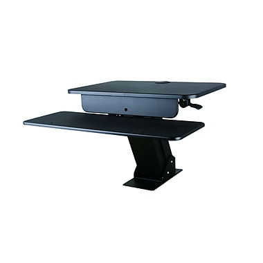 TygerClaw Sit-Stand Desktop Workstation Stand with Desk Mount (TYDS10017BLK)