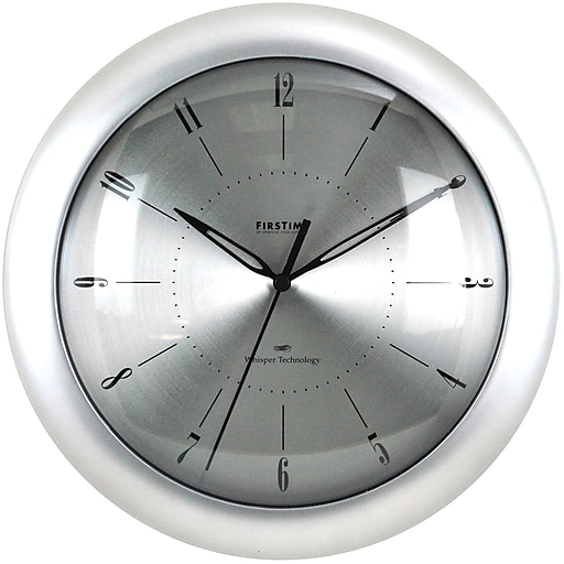 "FirsTime® 11"" Plasma Steel Wall Clock"