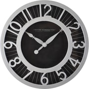 "FirsTime® 8"" Black Radiant Wall Clock"
